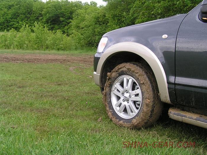 протектор забит грязью